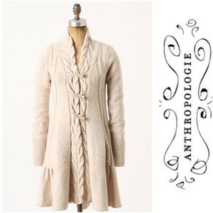 Anthropologie Angle of the North sweater coat
